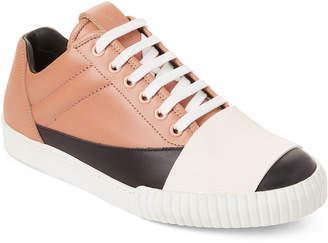 Marni Tan & Black Leather Low-Top Sneakers