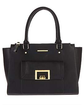 Tony Bianco Daisen Tote With Front Pocket Flap And Gold Clip Hardware