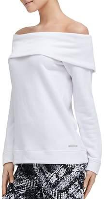 Donna Karan Off-the-Shoulder Sweatshirt
