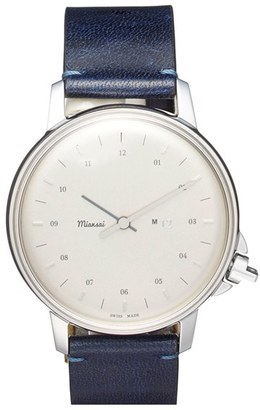 Men's Miansai 'M12' Leather Strap Watch, 39Mm $495 thestylecure.com