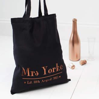 b71ea68bf91 Baby Yorke Designs Wedding Day Bridal Copper Tote Bag