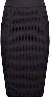 Line Taylor Open-Knit Midi Skirt
