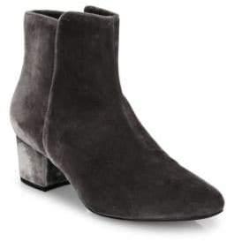 Joie Fenellie Velvet Block Heel Booties