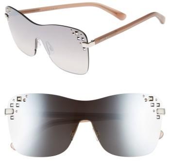 Jimmy ChooWomen's Jimmy Choo Masks 63Mm Rimless Shield Sunglasses - Gold/ Black