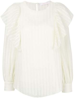 See by Chloe striped ruffle blouse