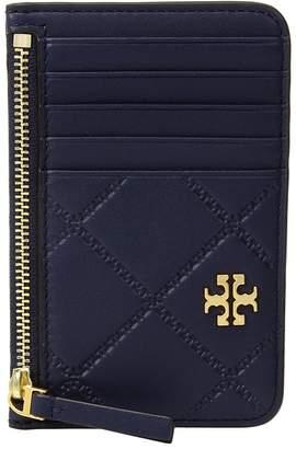 Tory Burch Georgia Top-Zip Card Case Credit card Wallet