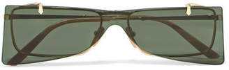 Gucci Cat-eye Gold-tone Sunglasses - Green