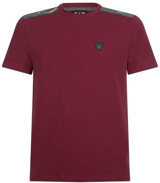 Giorgio Armani Ea7 Striped Crest T-Shirt