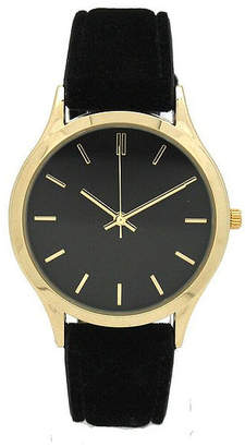 OLIVIA PRATT Olivia Pratt Velvet Womens Black Strap Watch-17459black