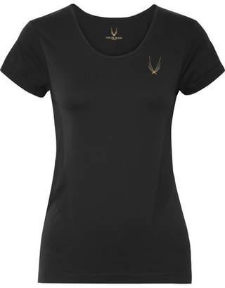 Lucas Hugh Core Technical Knit Stretch T-shirt - Black