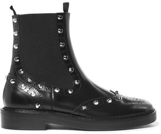 Balenciaga - Studded Leather Chelsea Boots - Black $1,015 thestylecure.com
