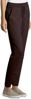 Neiman Marcus Chain-Trim Cashmere Jogger Pants