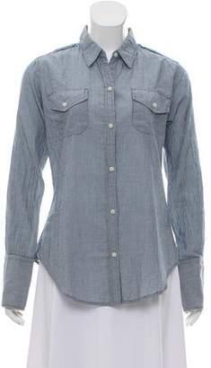 Nili Lotan Striped Button-Up Top w/ Tags