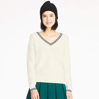 Uniqlo WOMEN Cotton Cashmere Middle Gauge Cricket Sweater