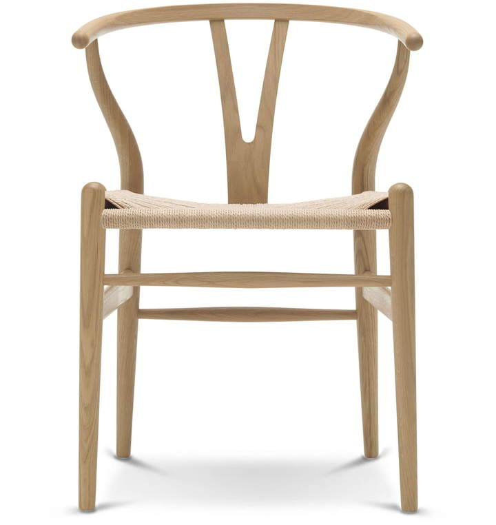 Carl Hansen - CH24 Wishbone Chair, Eiche geseift / Naturgeflecht
