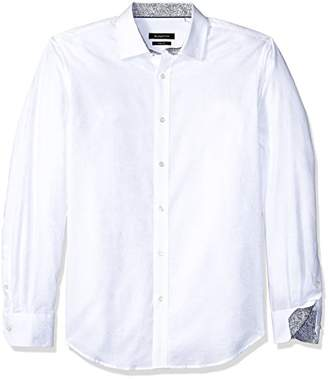 Bugatchi Men's Tailored Rose Printed Point Collar Long Sleeve Shirt