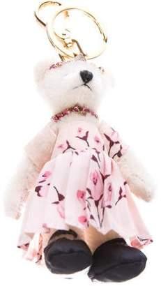 Prada Floral Bear Keychain