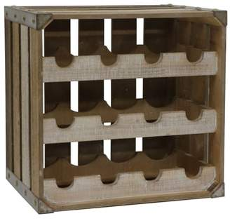 CRYSTAL ART GALLERY Wooden Wine Crate