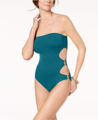 Vince Camuto Cut-Out Side Bandeau One-Piece Swimsuit Women's Swimsuit