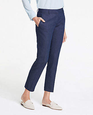Ann Taylor The Ankle Pant In Faux Denim - Curvy Fit