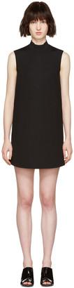 McQ Alexander Mcqueen Black High Neck Dress $455 thestylecure.com