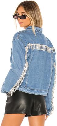 superdown Raya Rhinestone Fringe Jacket.