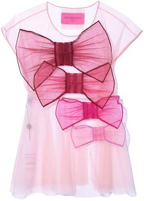 Viktor & Rolf So Many Bows Tulle Top in Pink