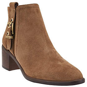 Franco Sarto Suede or Leather Booties w/ Buckle- Eminent