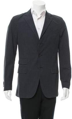 Michael Bastian Plaid Three-Button Blazer