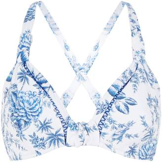 Seafolly Floral Halterneck Bikini Top