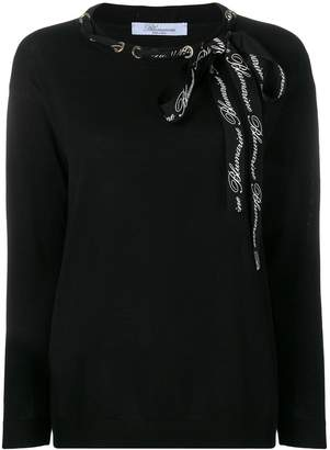 Blumarine long sleeved top
