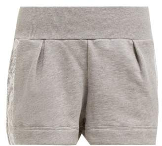 adidas by Stella McCartney Essential Snake Print Performance Shorts - Womens - Grey