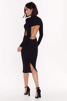 Nasty Gal Opening Up for Love High-Neck Midi Dress