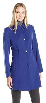 Kenneth Cole Women's Waist Detail Oxford Ponte Coat $59.89 thestylecure.com