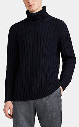Barneys New York Men's Cotton-Alpaca Turtleneck Sweater - Navy