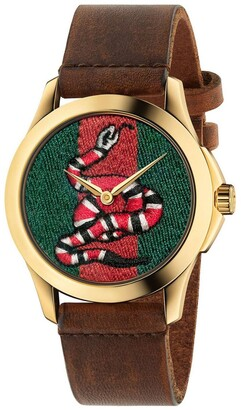 Gucci Watch Le Marché Des Merveilles Watch Case 38mm With Snake Pattern