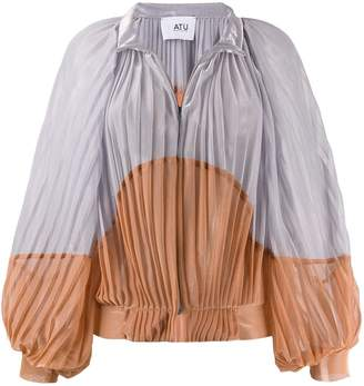 Couture Atu Body pleated two-tone jacket