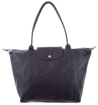 Longchamp Medium Le Pliage Cuir Bag