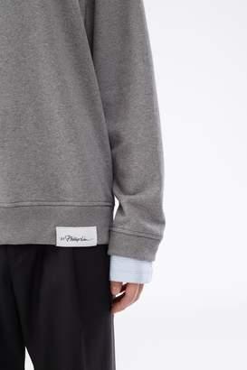 3.1 Phillip Lim Shirt-Cuff Sweatshirt