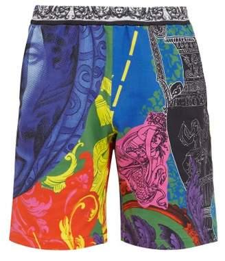 Versace Magna Grecia Print Shorts - Mens - Multi