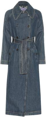 ALEXACHUNG Denim trench coat