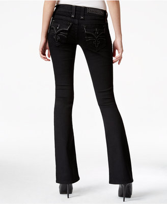 Rock Revival Celene Black Wash Bootcut Jeans, Only at Macy's $169 thestylecure.com