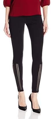 Hue Women's Laser Cut Panels out Leggings,M