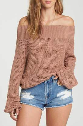 Billabong Off-The-Shoulder Sweater