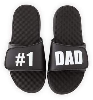 ISlide Men's 1 Dad Slide Sandals, Black