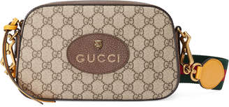 Gucci Messenger GG Supreme Green/Red Web Strap Brown/Yellow