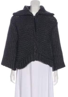 Dolce & Gabbana Wool-Blend Zip Up Sweater