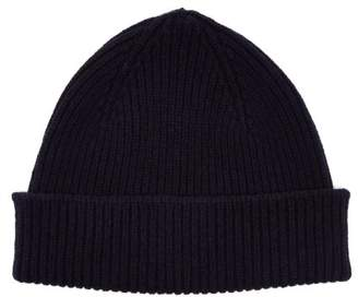 Paul Smith Cashmere And Merino Wool Blend Beanie Hat - Mens - Navy