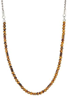 Co Caputo & Men's Tiger's Eye Bead & Sterling Silver Chain Necklace