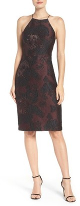 Women's Vera Wang Metallic Jacquard Sheath Dress $228 thestylecure.com